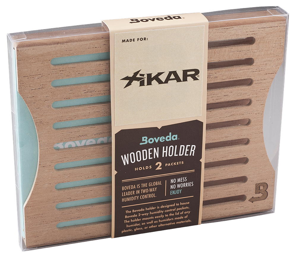 XBCH2 SBS XIKAR Boveda Wood Holder 2 Packets Side by Side