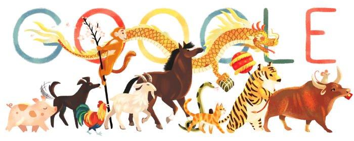 Mond-Neujahr Vietnam Google Doodle