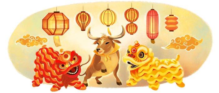 Mond-Neujahr Diverse Länder Google Doodle