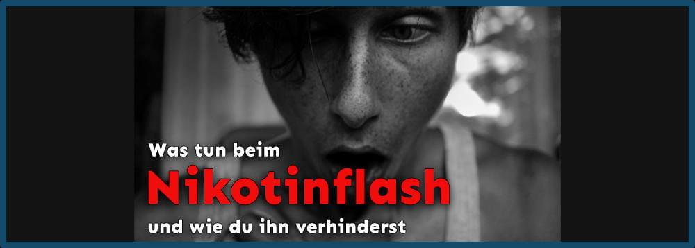 Nikotinflash oder Nikotinschock
