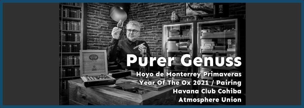 Hoyo de Monterrey Primaveras Year Of The Ox und Pairing Havana Club Cohiba Atmosphere Union