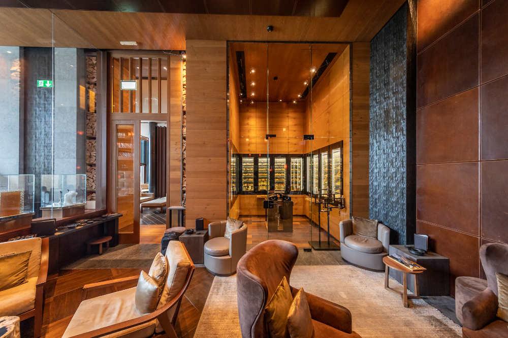 The Chedi Andermatt: The Cigar Library