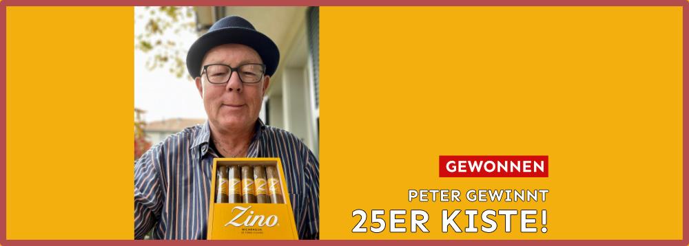 Peter gewinnt 25er Kiste Zino Nicaragua